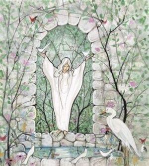 Art-Artist-PBuckleyMoss-CanadaGooseGallery-WaynesvilleOhio-LimitedEdition-Print-HomeDecor-Decorating-Angel-Bird-Animals