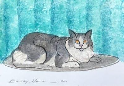 pbuckleymoss-original-watercolor-cat