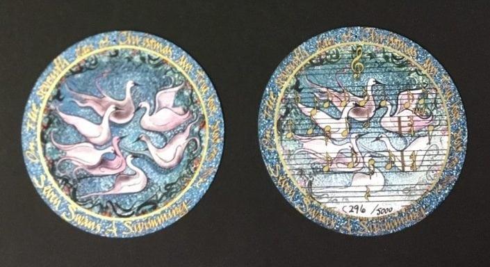 pbuckleymoss-ornament-limitededition-Porcelain-gifts-7 days-christmas-swans-