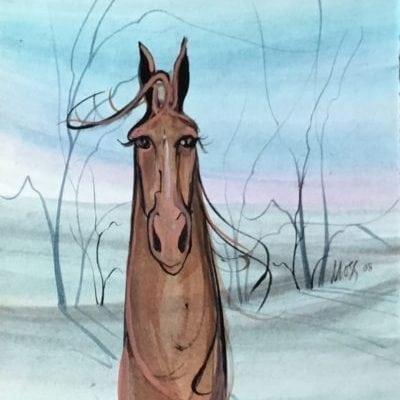 pbuckleymoss-original-watercolor-horse