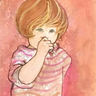 Painting-pbuckleymoss-original-watercolor-child