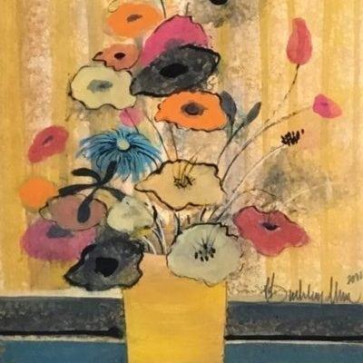 Painting-pbuckleymoss-Original-Watercolor-Flowers-floral