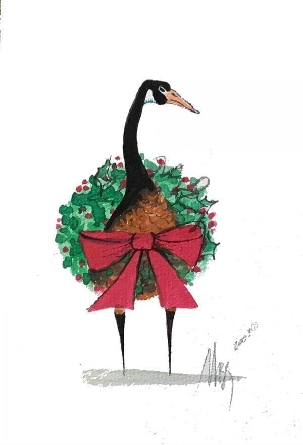 goose-christmas-pbuckleymoss-original-watercolor-painting
