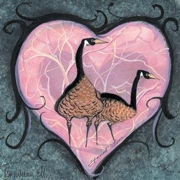 Eternal Love Collectable hearts iconic geese of P Buckley Moss art