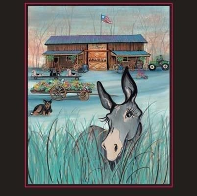 Richard Lynch Band and barn is featured in this poster by P Buckley Moss.