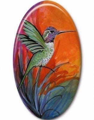 Art, Artist, P Buckley Moss, Canada Goose Gallery, Waynesville, Ohio, Limited Edition-Jewelry-Bird-HummingBird