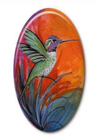 Art, Artist, P Buckley Moss, Canada Goose Gallery, Waynesville, Ohio, Limited Edition-Jewelry-Bird-HummingBird