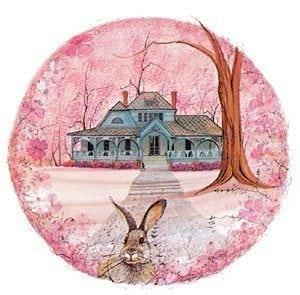 Joel Chandler Harris (Uncle Remus) house with beautiful bunny in the foreground.
