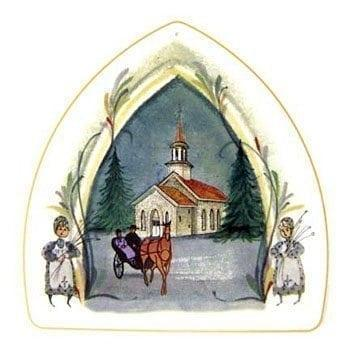 PBuckleyMoss-Waynesville-Ohio-CanadaGooseGallery-Art-Artist-LimitedEdition-Porcelain-Ornament-Gift-HomeDecor-ChristmasTree-Decoration-Christmas-Church-Buggy-Children-Gift
