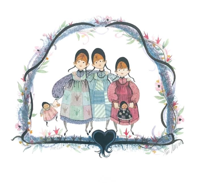 everything-nice-limited-edition-art-print-girls-three-p-buckley-moss-pink-blues-black-green