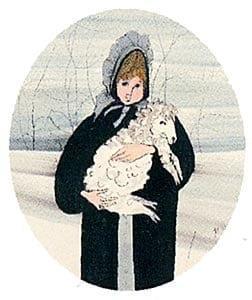 Meghan-Girl-Amish-Lamb-PBuckleyMoss-Print-WaynesvilleeOhio-CanadaGooseGallery