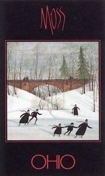 Historic bridge in Northern Ohio is the featured subject of this Ohio Poster by American artist P Buckley Moss.
