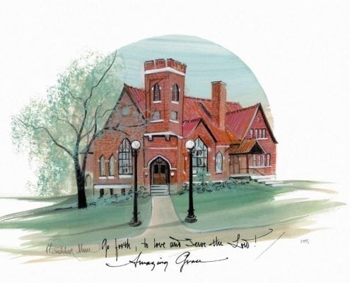 Amazing Grace features the Methodist church in Waynesville, Ohio.