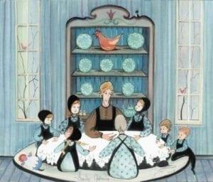 PBuckleyMoss-Waynesville-Ohio-CanadaGooseGallery-Art-Artist-LimitedEdition-Print-Thanksgiving-Family-Amish