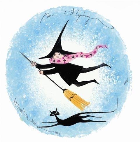 CanadaGooseGallery-Waynesville-Ohio-art-pbuckleymoss-witch-halloween-broom-blackcat-cat-halloween-trickortreat