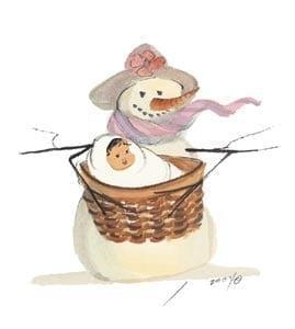 Baby-January-snowman-pbuckleymoss-art-limitededition-print-homedecor