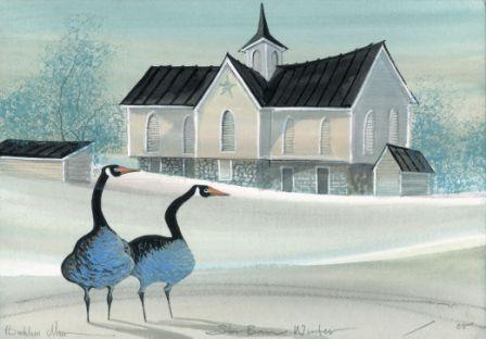 CanadaGooseGallery-WaynesvilleOhio-Art, Artist, P Buckley Moss, Canada Goose Gallery, Waynesville, Ohio, Limited Edition-Goosarn-Pennsylvania-Star-Barn-