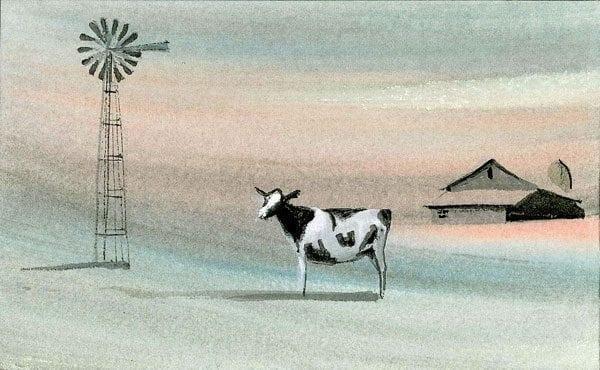 Art-Artist-PBuckleyMoss-CanadaGooseGallery-WaynesvilleOhio-LimitedEdition-Print-HomeDecor-Decorating-Cow-Barn-Farm-Landscape