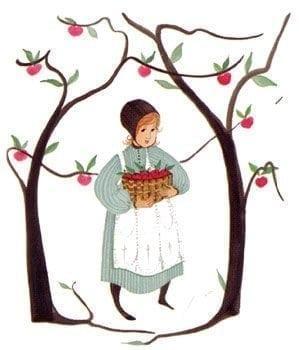 Art-Artist-PBuckleyMoss-CanadaGooseGallery-WaynesvilleOhio-LimitedEdition-Print-HomeDecor-Decorating-Amy-Apple-Basket-Tree