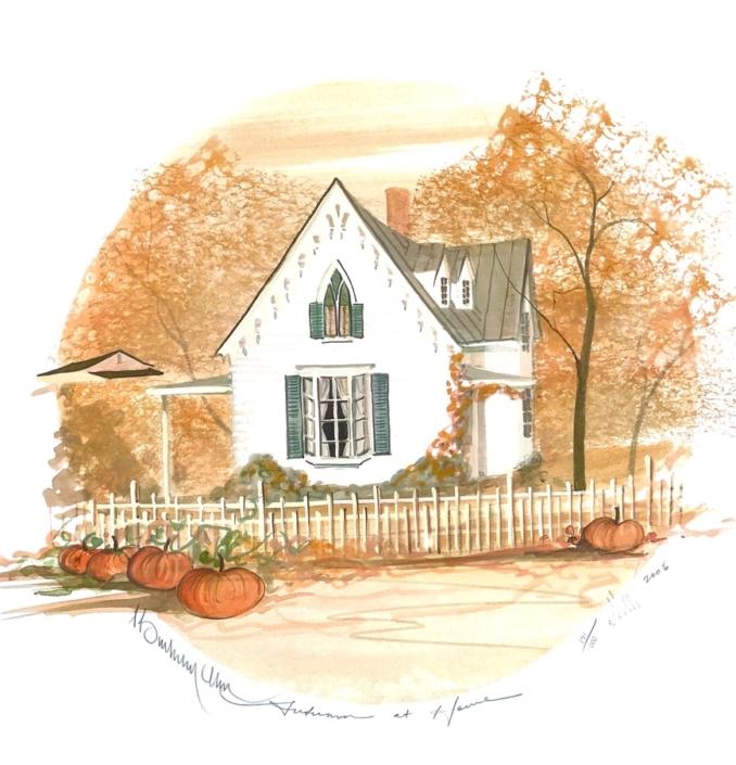p-buckley-moss-autumn-at-home-art-print