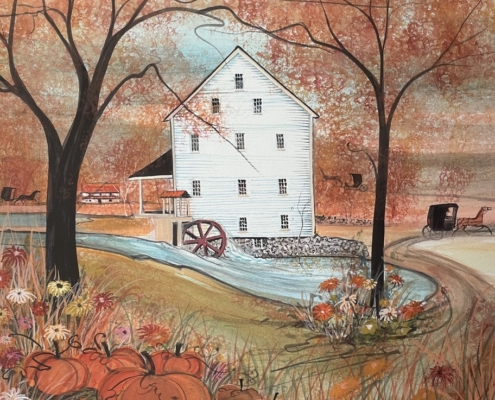 p-buckley-moss-autumn-at-silver-lake-mill-art-print