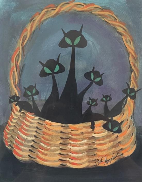 p-buckley-moss-basket-of-mischief-art-print