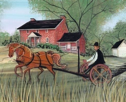 Crabill Homestead in Moorefield Township, Ohio, built c. 1826.