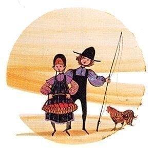 PBuckleyMoss-Waynesville-Ohio-CanadaGooseGallery-Art-Artist-LimitedEdition-Print-rooster-children-basket-apple-girl-boy-fishing