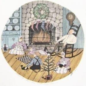 Christmas-PBuckleyMoss-limited-edition-print-rare-children