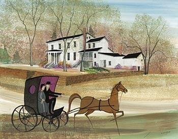 Daniel Hertzler House near Springfield, Ohio was built in 1854.