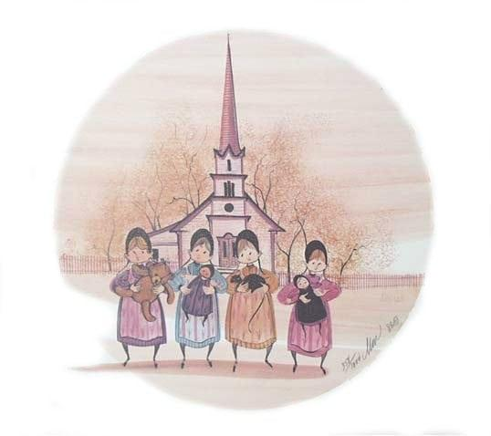 fourgirls-Print-rare-limitededition-buckleymoss-art-child-girl