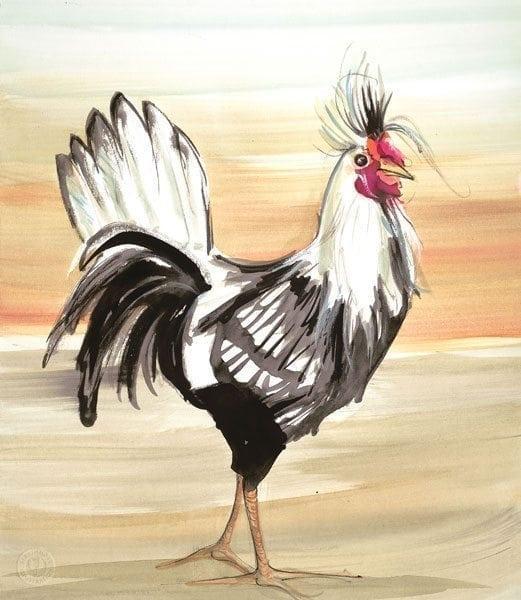 PBuckleyMoss-Waynesville-Ohio-CanadaGooseGallery-Art-Artist-LimitedEdition-Print-MorningStrut-Rooster