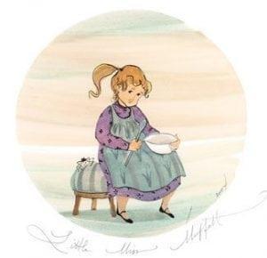 Nursery-Rhyme-Print-LimitedEdition-PBuckleyMoss-CanadaGooseGallery-WaynesvilleOhio-Children-Books-reading-Deecorating