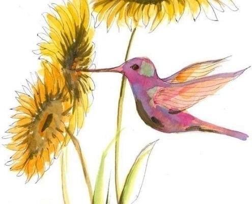 PBuckleyMoss-Waynesville-Ohio-CanadaGooseGallery-Art-Artist-LimitedEdition-Print-PatchworkBeauty-Hummingbird-Bird
