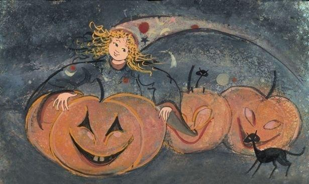 CanadaGooseGallery-Waynesville-Ohio-PBuckleyMoss-LimitedEdition-Print-Art-Pumpkin-Fairy-Halloween-Pumpkin