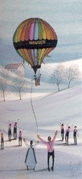 Limited edition print of the Houser Hot Air Balloon by P Buckley Moss.