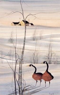 PBuckleyMoss-Waynesville-Ohio-CanadaGooseGallery-Art-Artist-LimitedEdition-Barn-Goose-Geese-Trees-Landscape