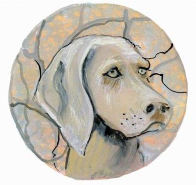 pbuckleymoss-print-limitededition-dog-weimeraner