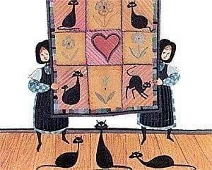 Quilt, Quilting, Quilts, P Buckley Moss, Black Cats, Print, Art, Quilt Art, Rare print, Artist Proof