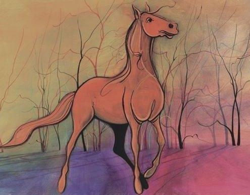 CanadaGooseGallery-WaynesvilleOhio-pbuckleymoss-limited-edition-print-horse