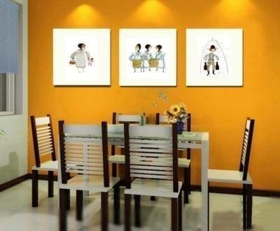 Home Decor Dining Orange
