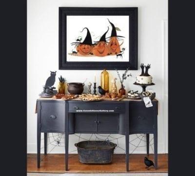 PBUCKLEYMoss-LimitedEdition-print-art-homeDecor-Decorating Pumpkin-Witch