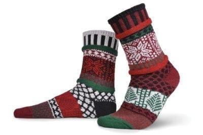 Solmate Poinsettia Crew Socks