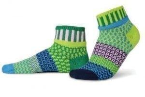 Solmate Sweet Pea Water Lily Quarter Sock