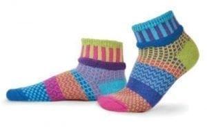 Solmate Bluebell Lily Quarter Sock