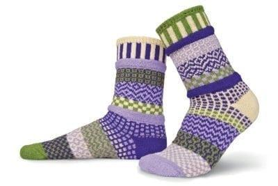 Solmate Orchid Crew Sock available at Canada Goose Gallery in Waynesville, Ohio.