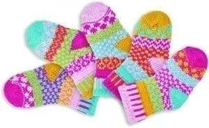 Solmate Cuddle Bug Baby Socks. Five socks to a set.