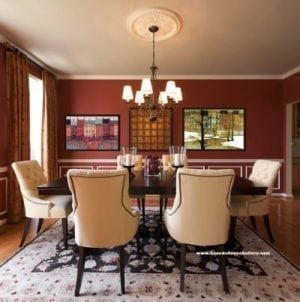Home Decor Dining Red