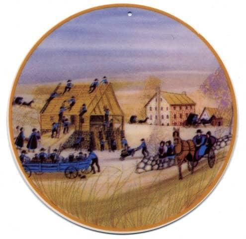 CommunitySpirit-pbuckleymoss-ornament-limitededition-barn-raising-gift