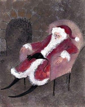 PBuckleyMoss-Waynesville-Ohio-CanadaGooseGallery-Art-Artist-LimitedEdition-Print-Christmas-Santa-Holiday